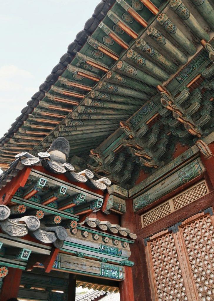 Dach eines Tempels im Changgyeonggung Palast