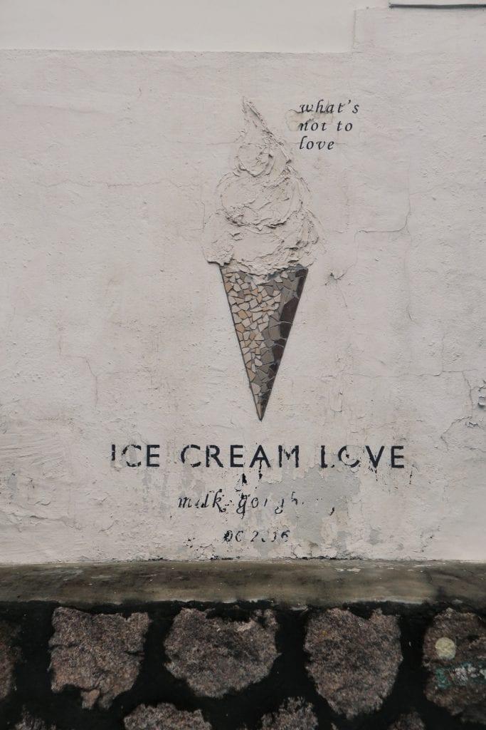 Ice Cream Street Art im Ihwa Village