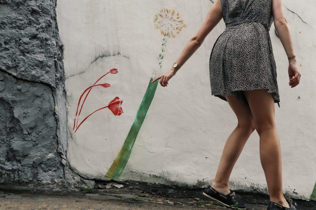 Blumen Street Art im Ihwa Village