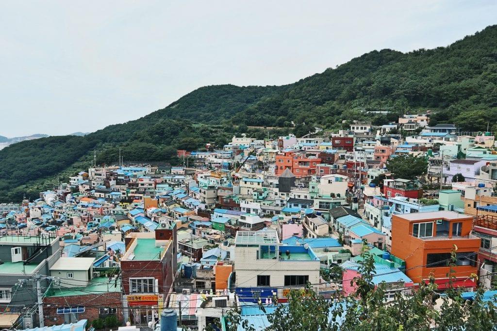 Blick auf das Gamcheon Culture Village