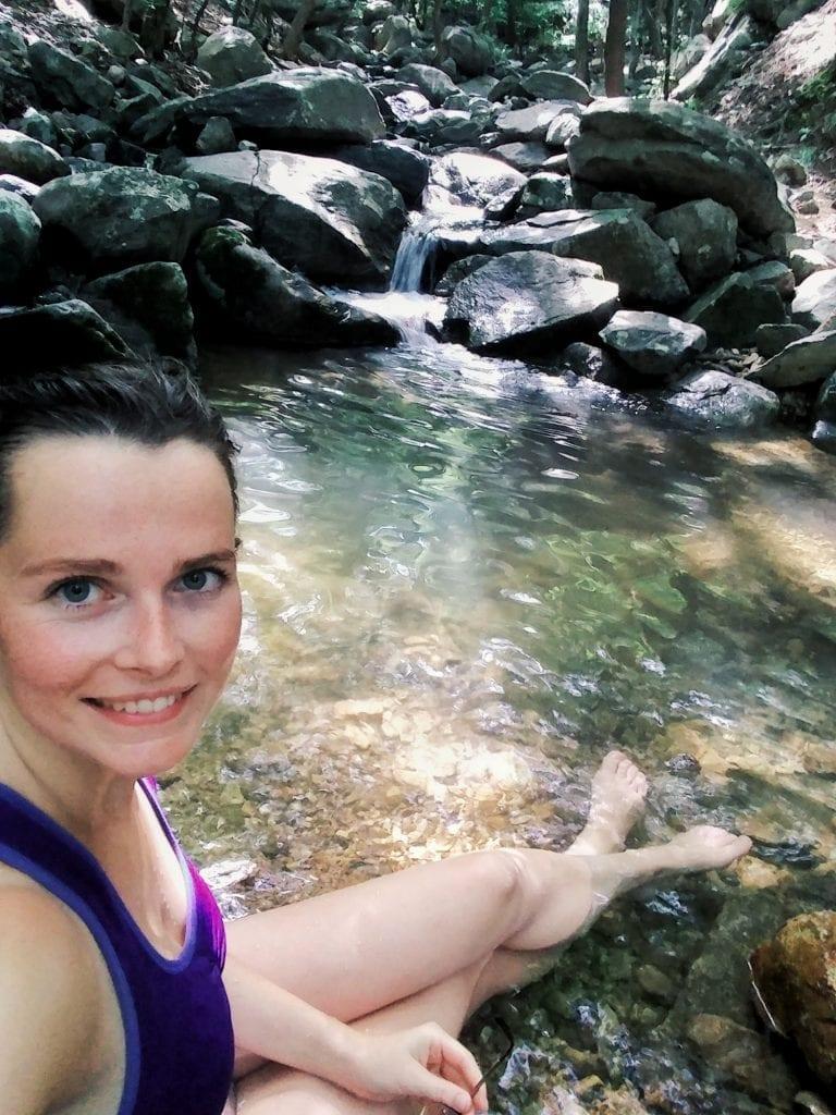 Natürlicher Pool im Park am Jangsan Mountain