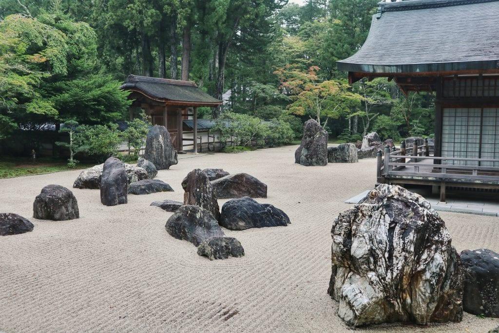 Japanischer Steingarten in Koyasan