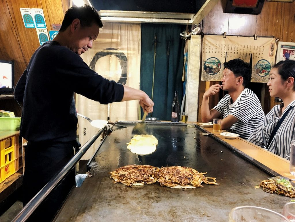 Okonomiyaki Kyoto-Stlye bei Yamamoto Mambo