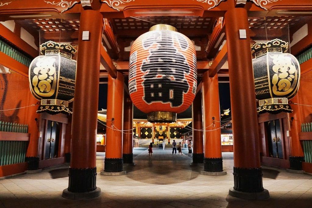 Lampinon im Asakusa Tempel