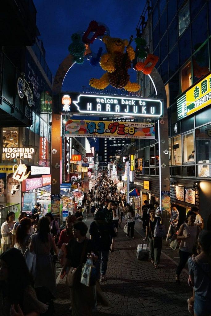Harajuku bei Nacht