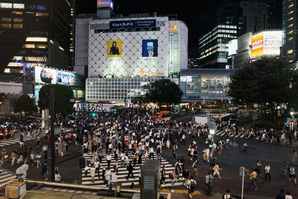 Shibuya Crossing vom Starbucks aus