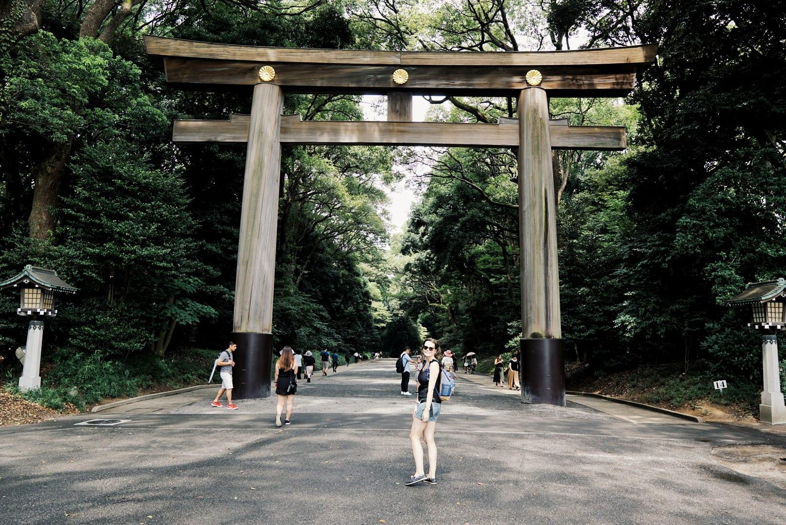Holztor zum Meiji Schrein