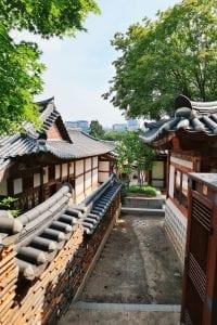 traditionelle koreanische Häuser im Bukchon Village