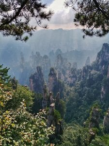 Blick vom Tianzi Mountain in Zhangjiajie, Avatar Berge