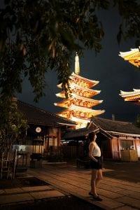 Asakusa Tempel in Tokyo bei Nacht