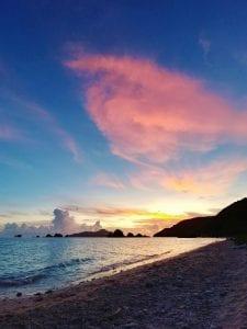 Sonnenuntergang auf Zamami Island