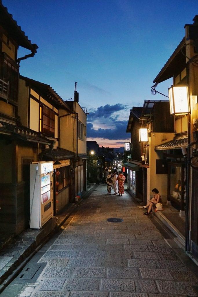 Gion-Viertel bei Nacht