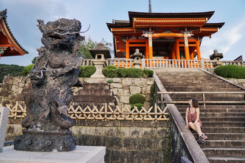 Treppe zum Kiyomizu-dera-Tempel