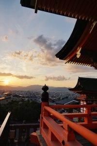 Sonnenuntergang auf dem Kiyomizu-dera-Tempel - Lieblingsort in Kyoto