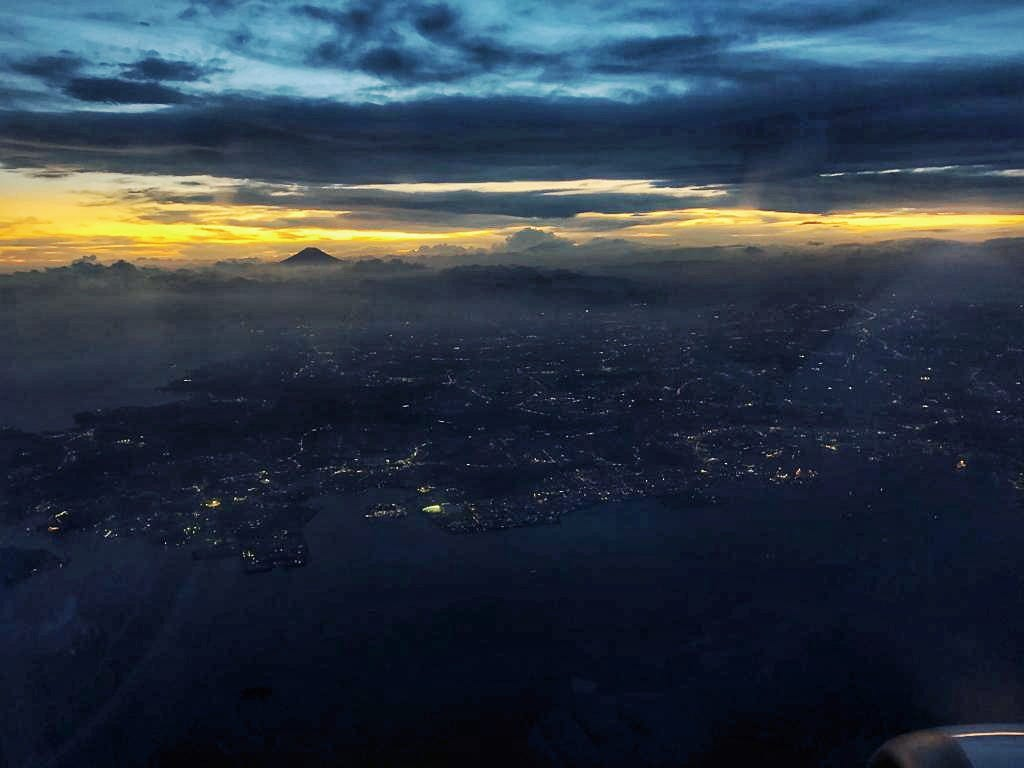 Fujisan bei Sonnenuntergang