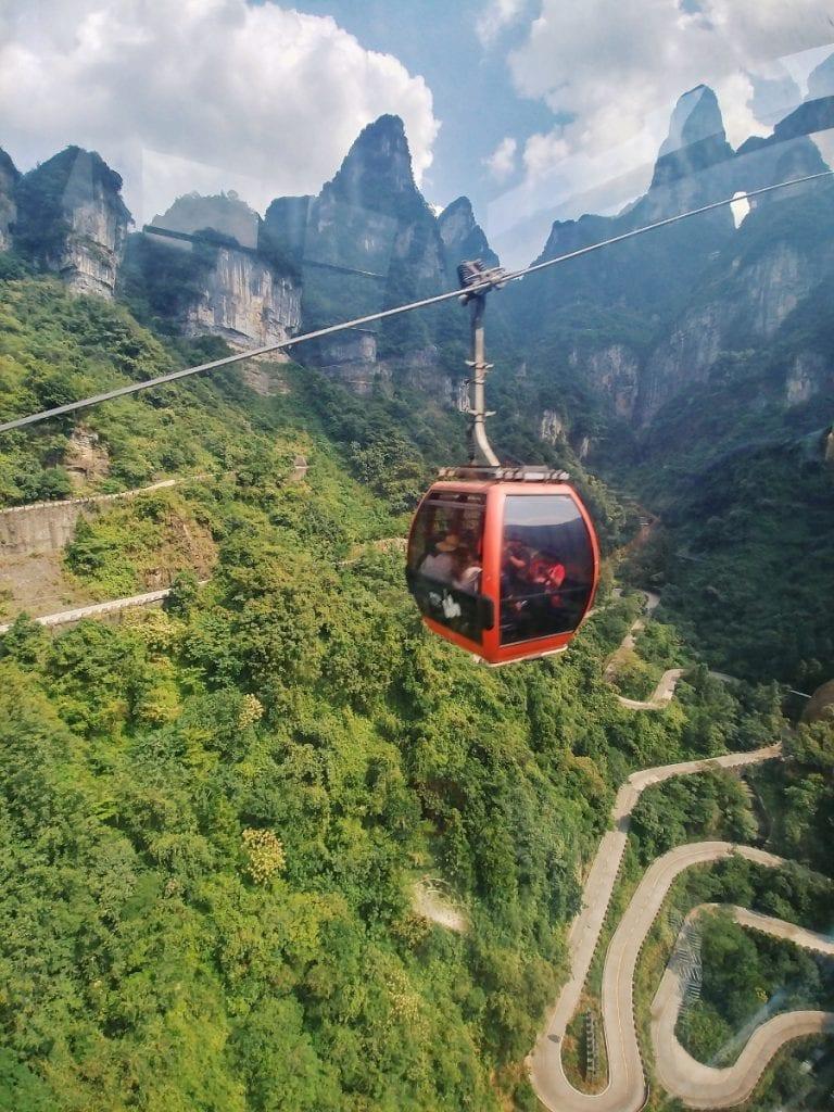 Seilbahn auf den Tianmen Mountain