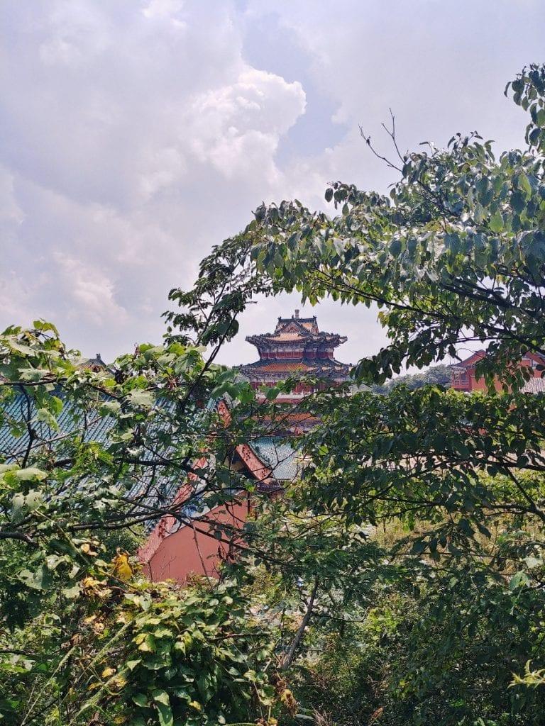 Seilbahnstation auf dem Tianmen Mountain