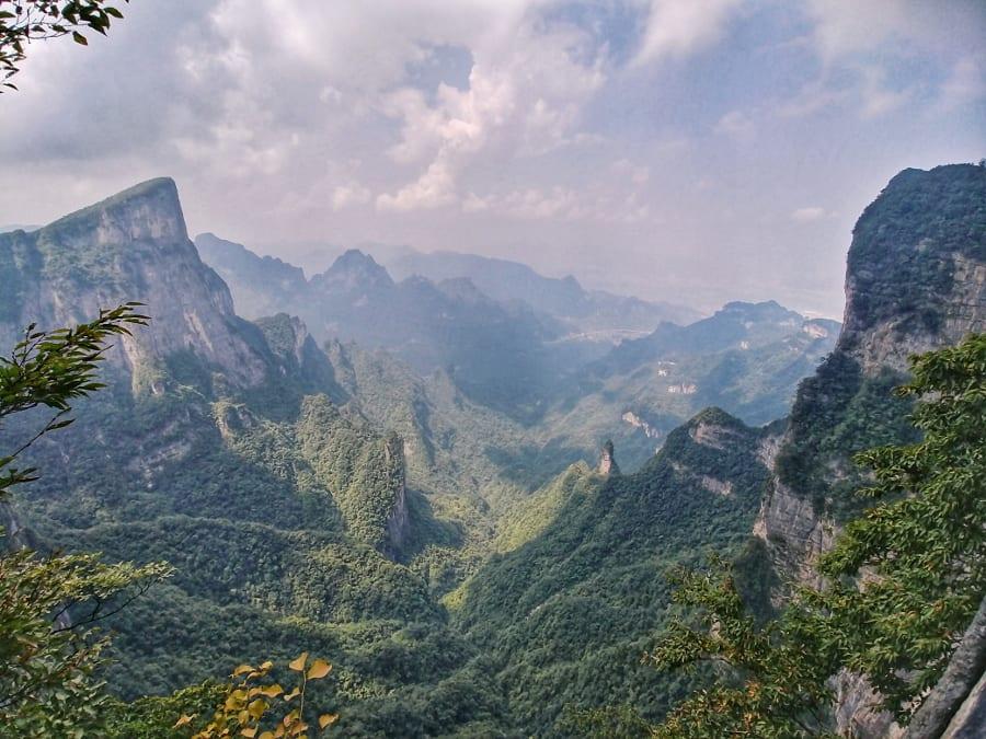 Blick vom Tianmen Mountain