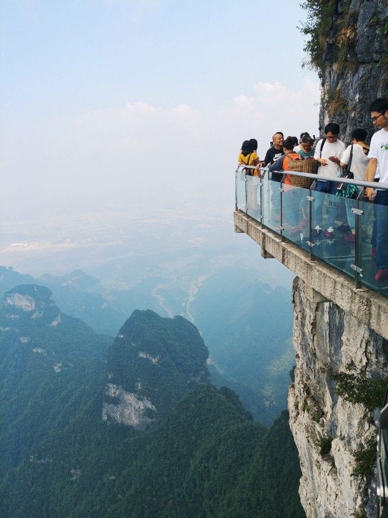 Glasbrücke auf dem Tianmen Mountain