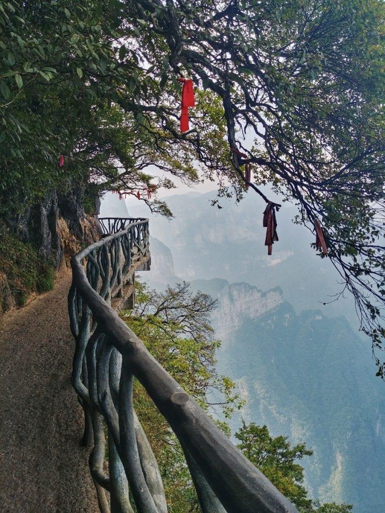 Weg auf dem Tianmen Mountain