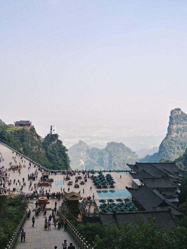 Blick ins Tal von der Tianmen Cave
