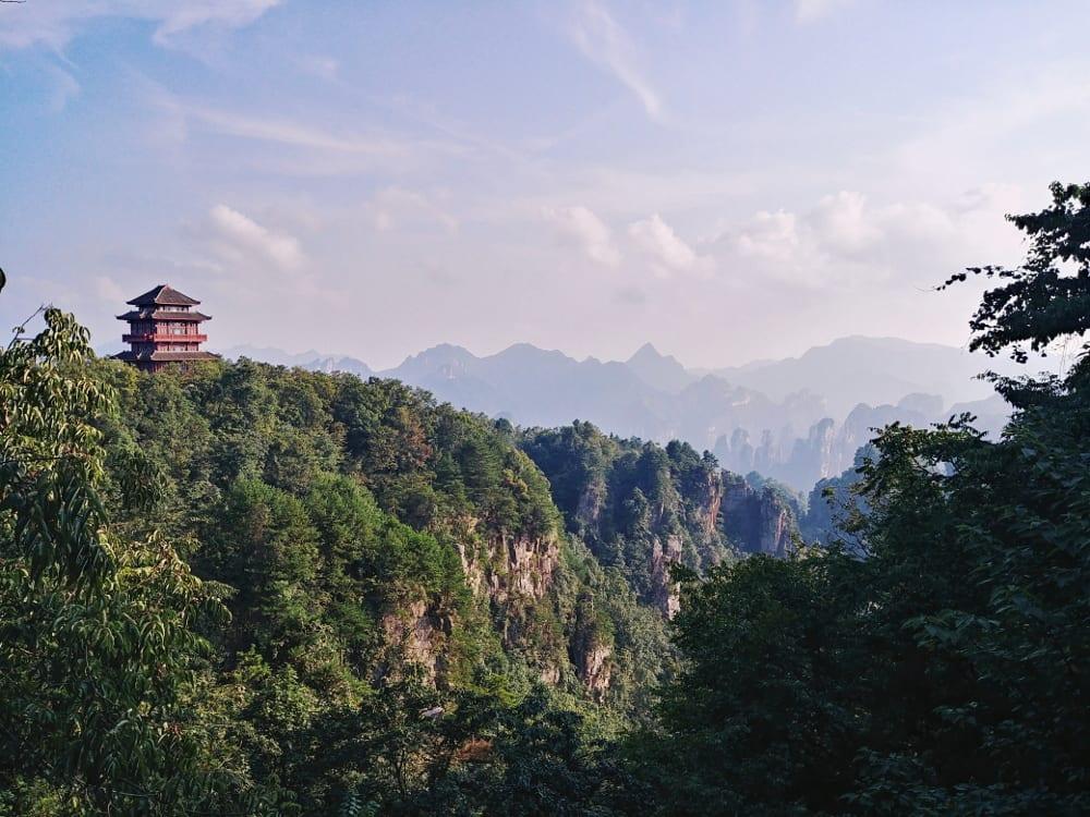 Pagode auf dem Tianzi Mountain