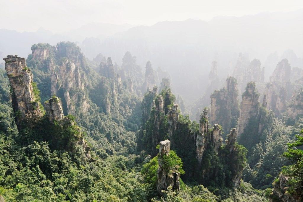 Avatar Berge um den Tianzi Mountain