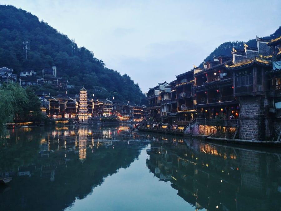 Dämmerung in Fenghuang