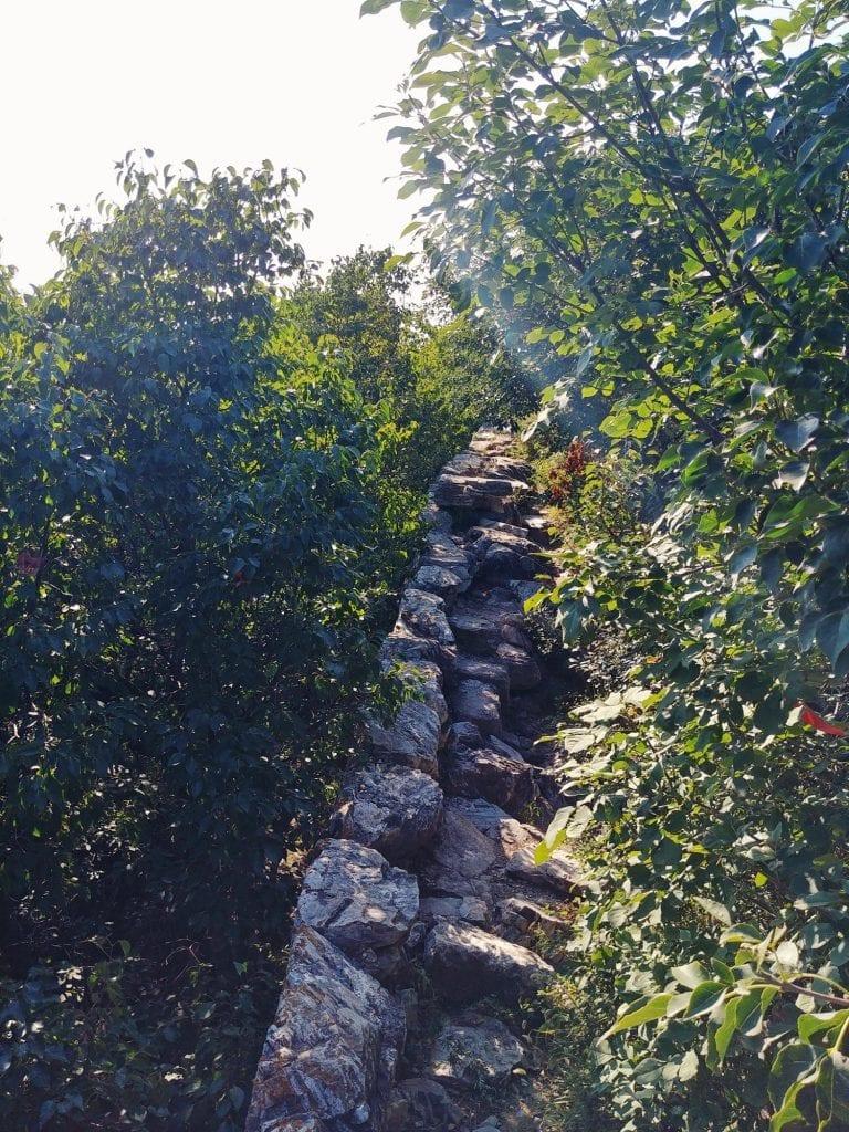 zerfallende Mauer Mutianyu