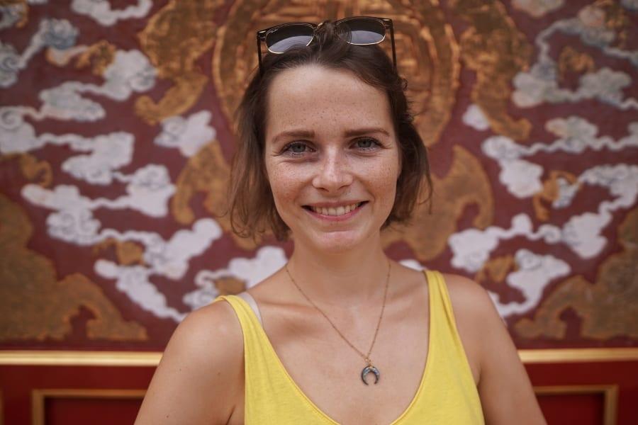 Travellerin Lisa in Peking