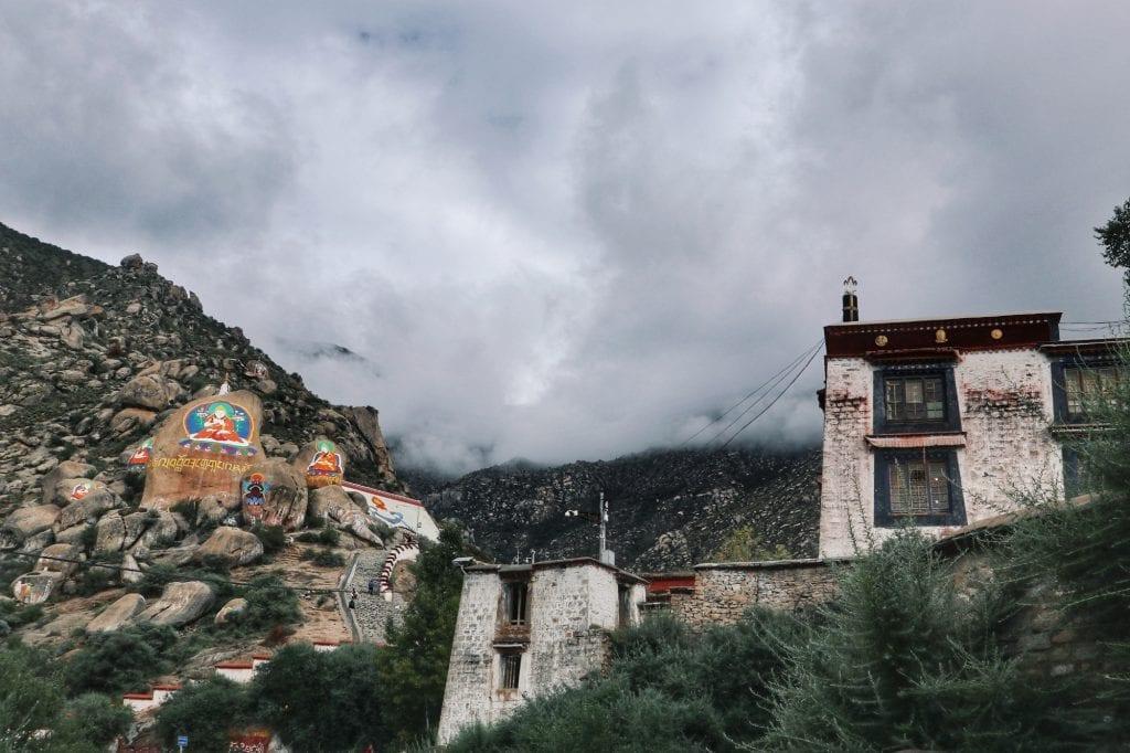 Heilige Zeichnung der Drepung Monastery