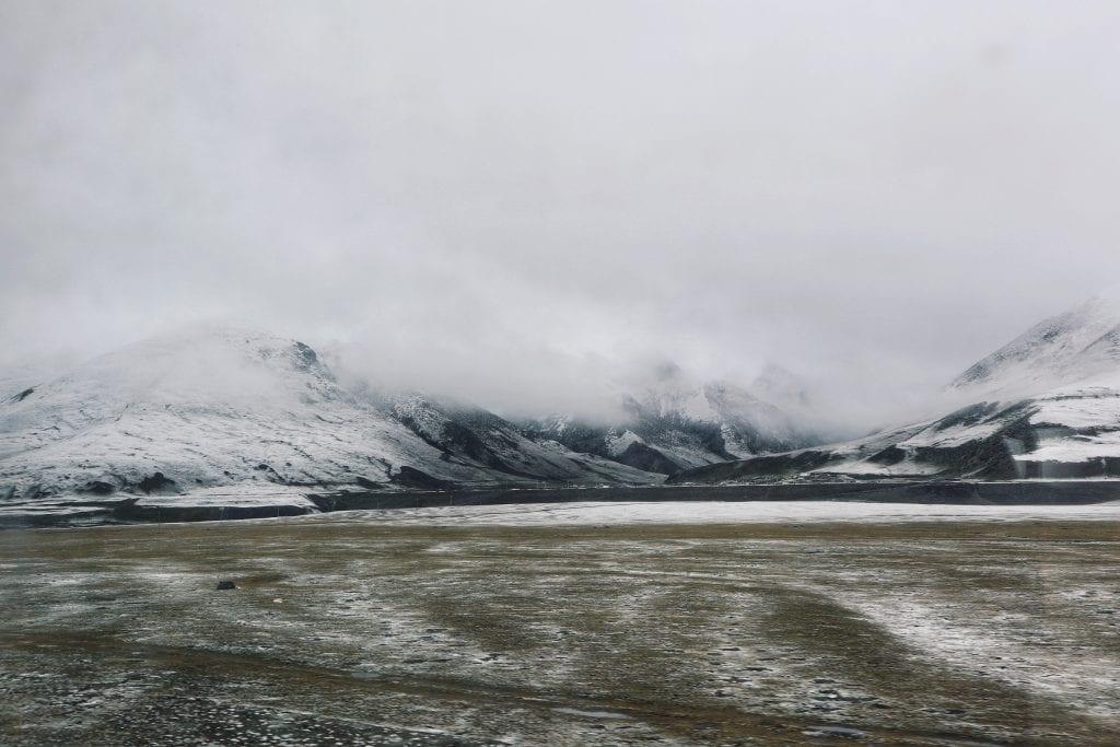 Blick aus dem Zug nach Tibet