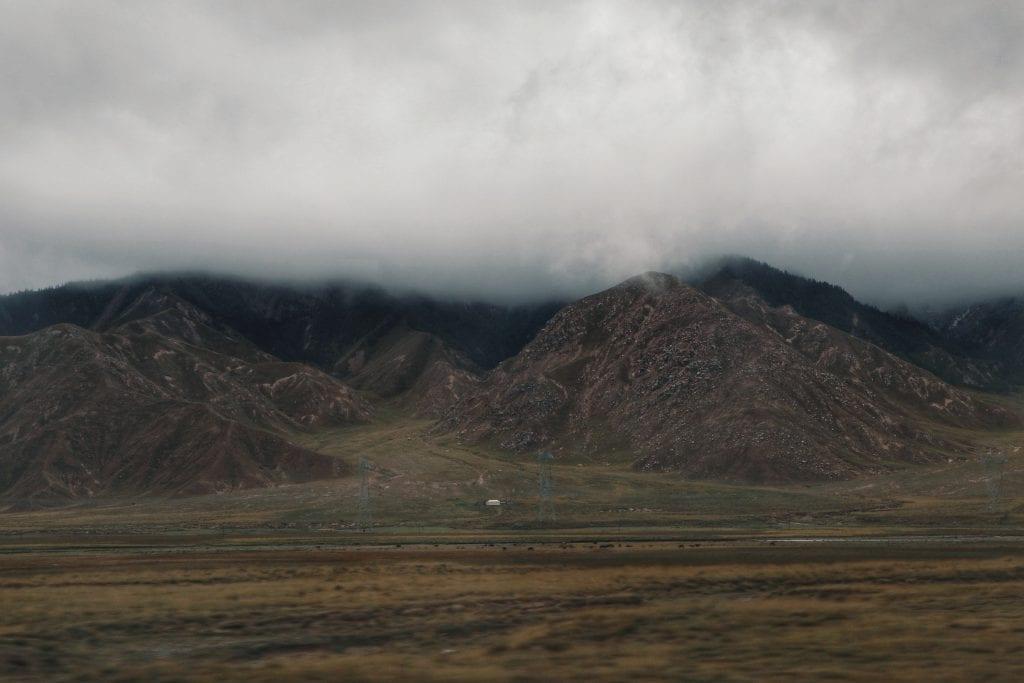 Nebel im tibetischen Hochland