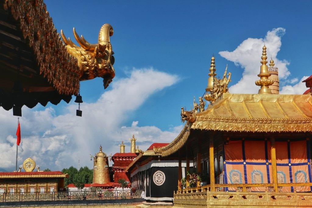 Goldene Dächer Jokhang Tempels