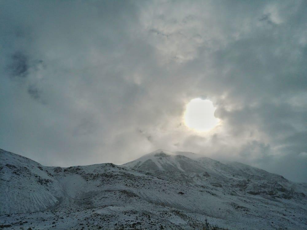 Berge im Mount Everest Basecamp