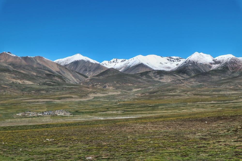 Bergkette in Tibet