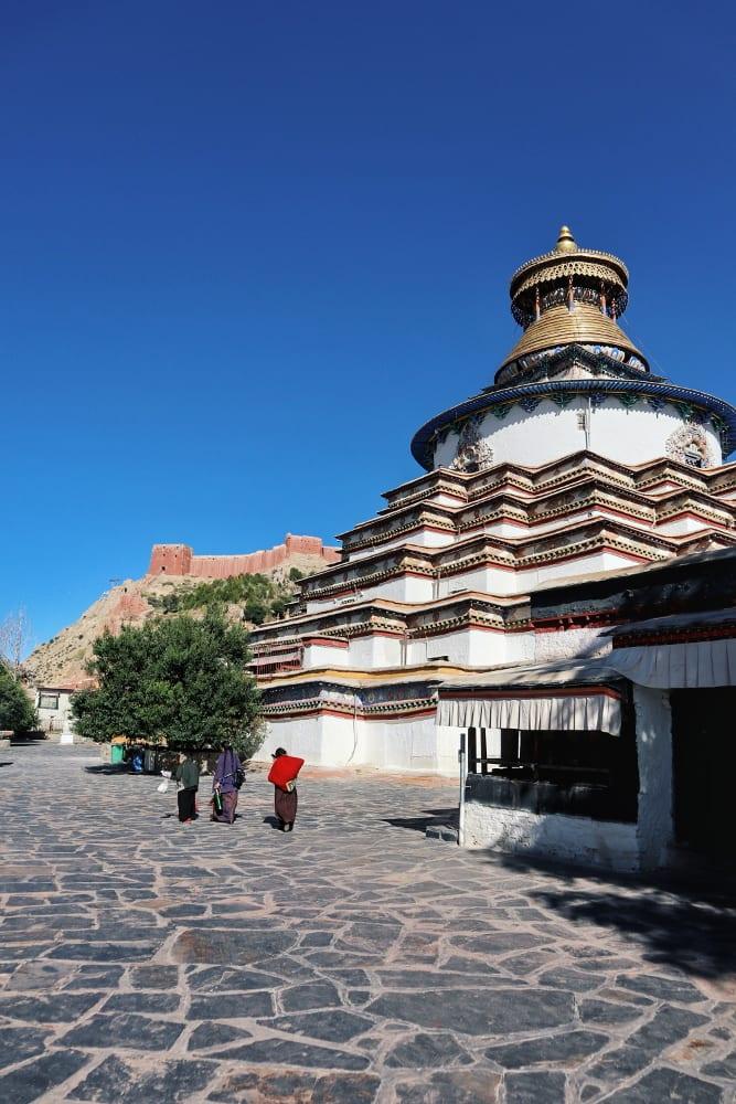 Bodhi-Pagode im Pelkor-Code Kloster