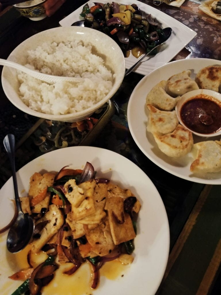 Letztes Essen Tibet Momos