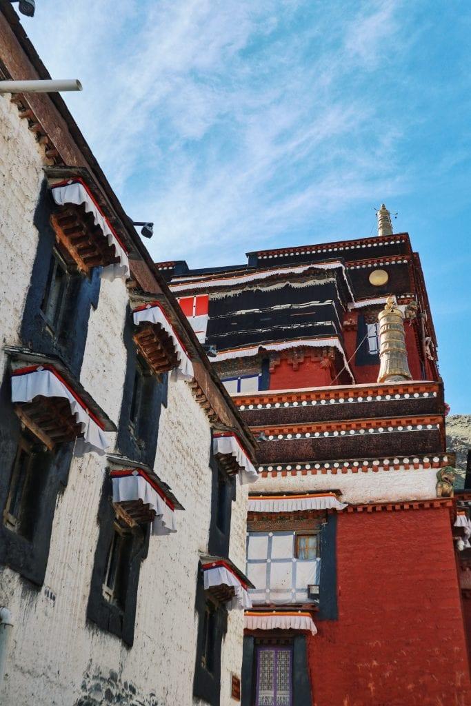 Mönchsgebäude in Shigatse