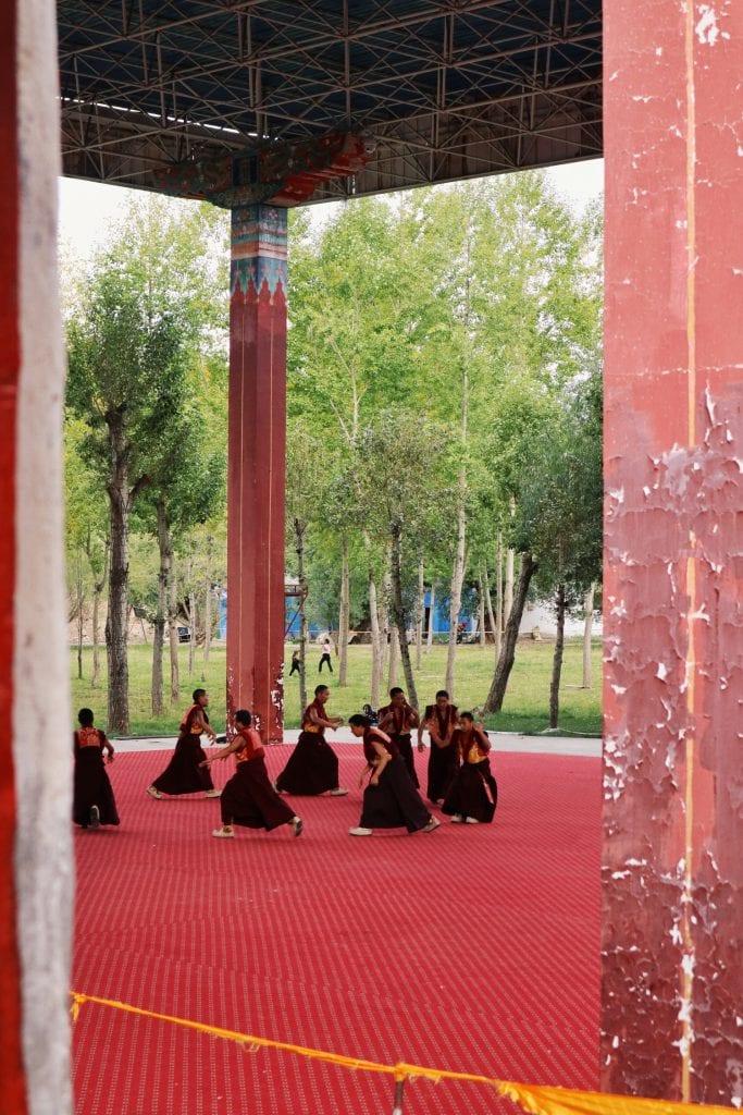 Mönchstanz in der Tashilhunpo Monastery