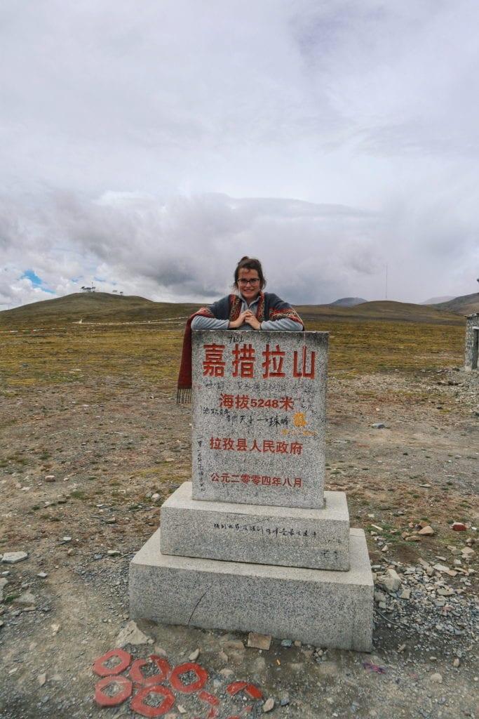 Travellerin Lisa auf 5000 Meter