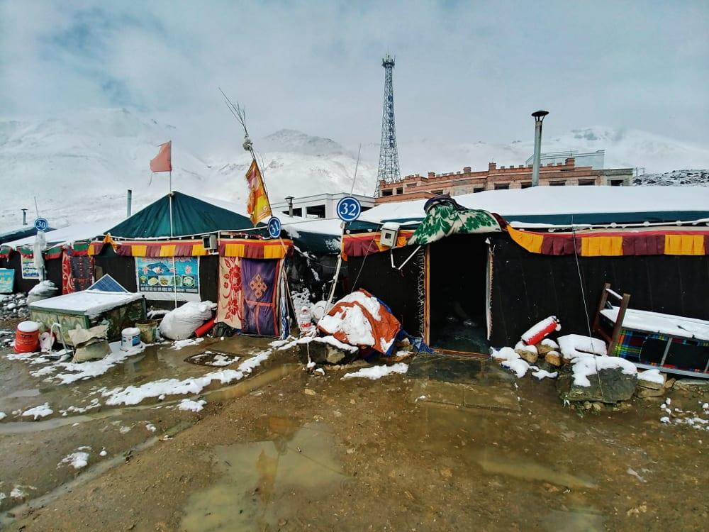 Zelte vom Mount Everest Basecamp