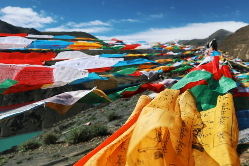 tibetische Gebetsflagge