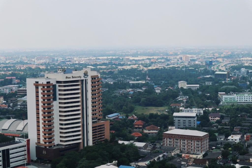 Siam University Bangkok vom Supalai Park