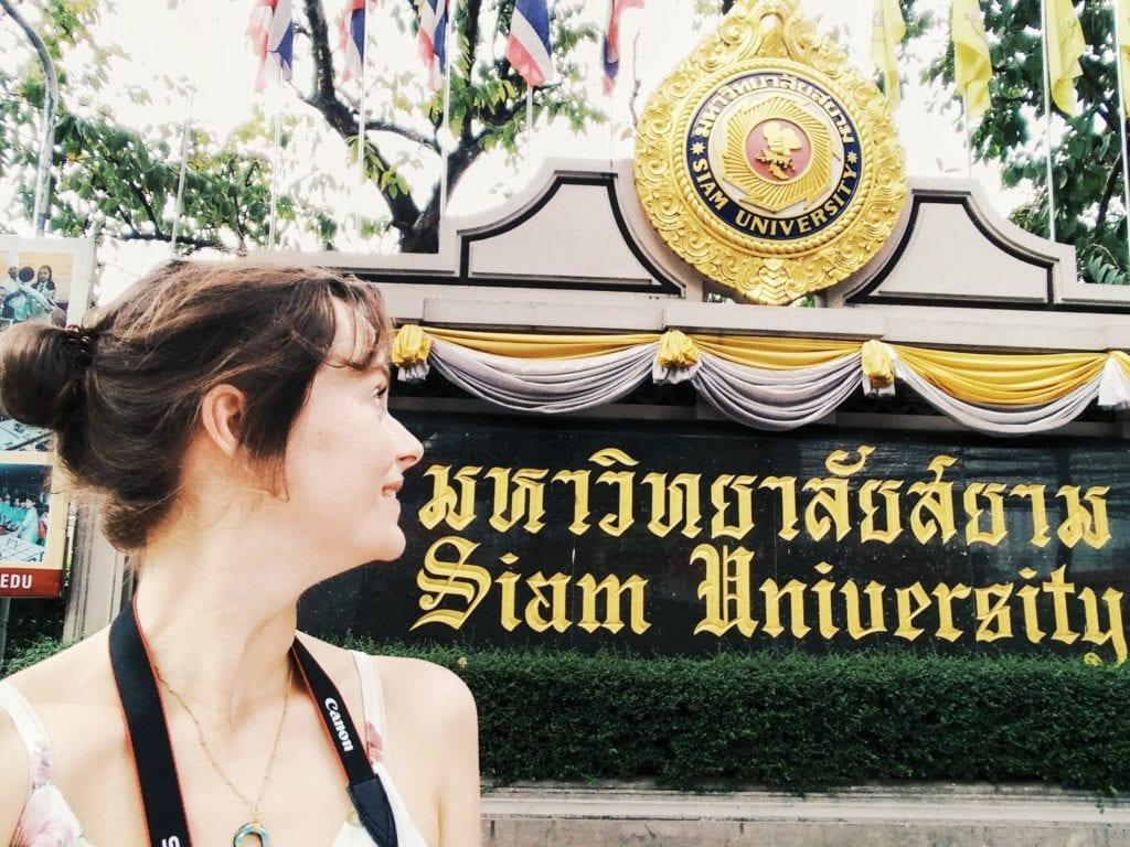 Tor zur Siam University in Bangkok