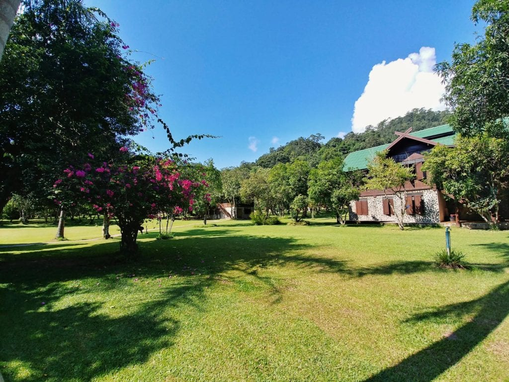 Frauendorm in der Wat Pa Tam Wua Forest Monastery