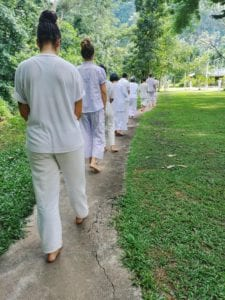 Meditieren in Thailand_gehende Meditation