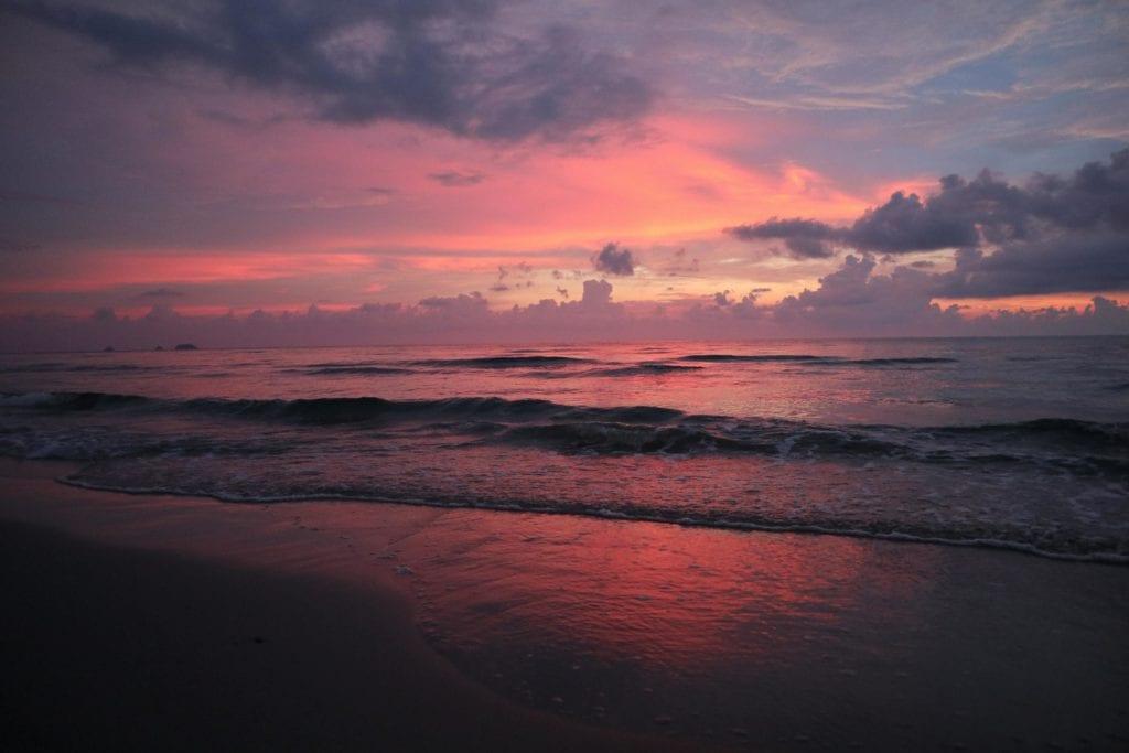 Sonnenuntergang Whitesandy Beach Koh Chang