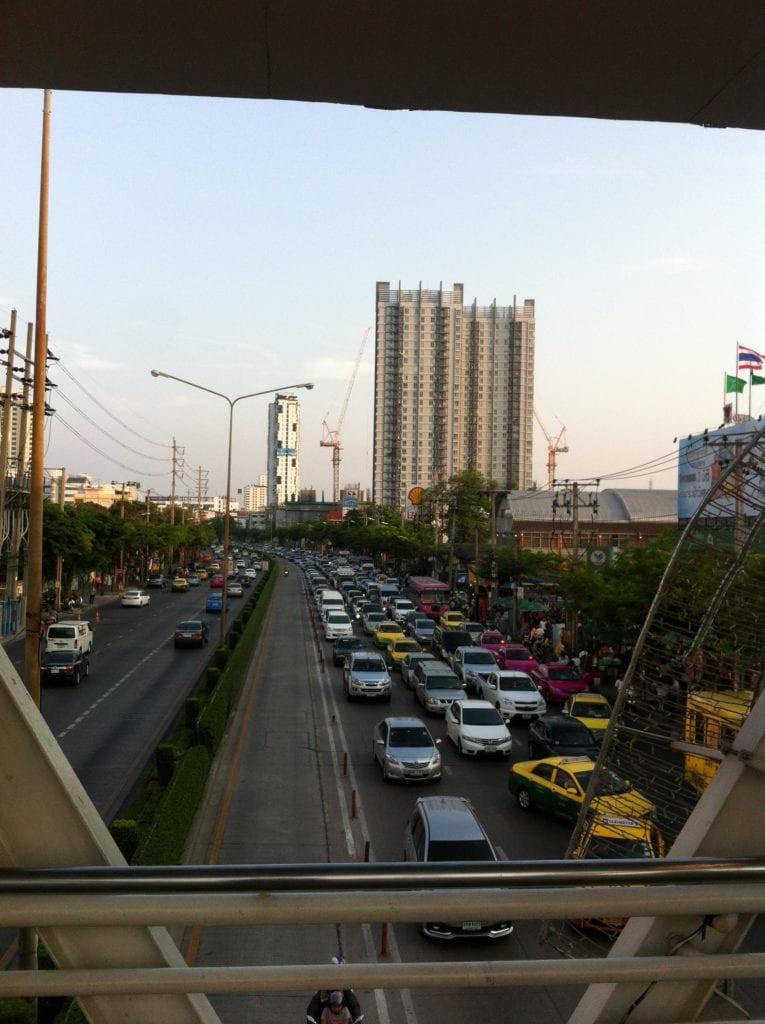 Taxi fahren Bangkok Stau