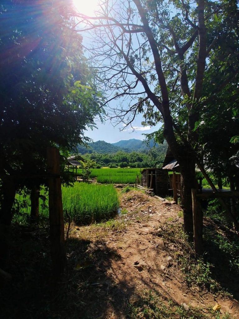 Weg zur Wat Pa Tam Wua Forest Monastery